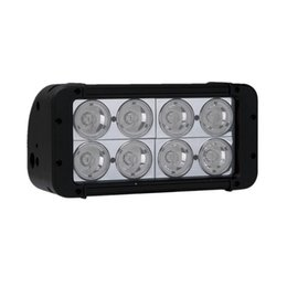 "Wholesale High Powered Spot Lights - 8"" 80W CREE 8-LED*(10W) Work Light Bar Off-Road SUV ATV 4WD 4x4 Spot   Flood Beam 6400lm IP67 9-30V High Power Massive Bright 2 Row Aluminum"