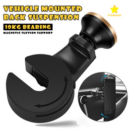 Wholesale Mounts Holder Stand - Backseat Headrest Magnet Phone Holder Car Mount Stand Holder stook storage for Bag Purse Cloth with Retail Package