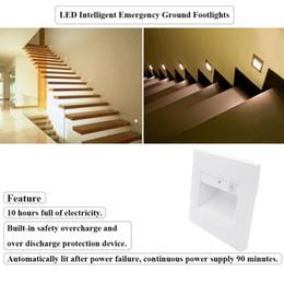 2019 встроенные аварийные фонари 0.6 Вт встроенное устройство защиты безопасности LED интеллектуальная аварийная лампа Footlight лестницы шаг проход стены плинтус встраиваемые освещение ночной свет дешево встроенные аварийные фонари