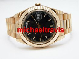 Wholesale luxury fashion brand men watch Men s Automatic steel watch men s watches Golden belt Sapphire Christmas gifts