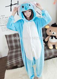 Wholesale Sleepsuit Children - Wholesale- Lovely Elephant Pajamas Pyjamas Adult Children Onesie Animal Sleepsuit For Unisex