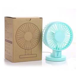 Wholesale Blade Charge - 2016 New Arrival Mini Fan Portable Ultra-quiet Design Desktop Fan Cooling Multiple Blades USB Charging with Double Side USB Fan