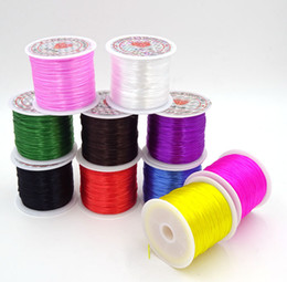 Wholesale Elastic Beading Cord - 15m 1Roll Colorful Stretchy Elastic Cord Crystal String For Jewelry Making Beading Wire Fishing Thread Rope AGT-1