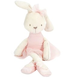 Wholesale Sleep Baby Toy - Wholesale- Baby Soft Plush Toys Brinquedos Plush Rabbit Bunny Stuffed Toy sleeping comfort doll Gift for Kids girls Stroller Accessories Y3