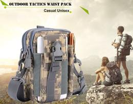Wholesale Wallet Mens Nylon - New Fashion Hot Mens Waterproof Military Belt Waist Bags 1000D Nylon Mobile Phone Wallet Travel Women Messenger Bag