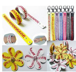Wholesale Diamond Bow Bracelets - 25pcs baseball seams headband+25pcs baseballs seam hair bow+25pcs baseball seam keychain+25pcs baseball seam bracelet