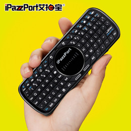 Wholesale Smart Led Tvs Wholesale - iPazzPort 2.4G Mini Wireless Keyboard for PC Android Smart TV Box LED Light Fly Air Mouse KP-810-09S