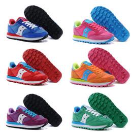 Wholesale Low Heel Womens Shoe - Fashion Boots Originals Jazz Shoes Women Ladies Saucony Jess Lowpro Breathable Womens Shoes 7 Color Hot Sale Size 36-39