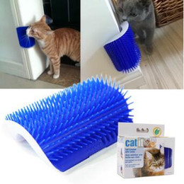 Wholesale Dog Hair Trim - Newest Pet Cat Self Groomer Grooming Tool Hair Removal Brush Comb for Dogs Cats Hair Shedding Trimming Cat Massage Device CCA7649 50pcs