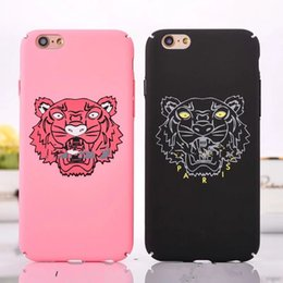 Wholesale Iphone Head Sets - Tide brand tiger head for iphone6S 6plus mobile phone cases full package hard shell for iphone7 7plus simple matte sets free shipping