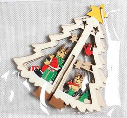 Wholesale Wooden Embellishments - Wooden Christmas Shapes Embellishment Xmas Tree Decoration