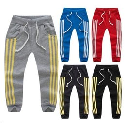 Wholesale Boys Striped Harem Pants - fashion Children Boy Long Casual Pants Boy Girl Cotton Sports Trousers Kids Top Quality spring summer Jogging pants