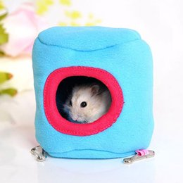 Wholesale Mini Rats - Ferrets Soft Ferret Bird Small Cage Cute Toys Bed Rat Animal Mini Cages Warm Winter Hamster Cage Hanging Nest Pet House