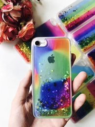 Wholesale Star A8 - For Samsung Galaxy A9 A8 A7 A5 A3 2016 Colorful Cheap Hybrid Water Liquid Glitter Phone Case Floating Star TPU Shining Rainbox Cover