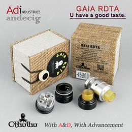 Wholesale Ecig Rebuildable Atomizer - Authentic Cthulhu GAIA RDTA Tank USA Design rebuildable atomizers FOR Hcigar vt250 SMOK AL85 ALIEN GX350 IPV D4 VESTA vape ecig atomizer