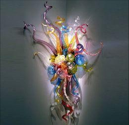 la parete del fiore principale della lampada Sconti Lampade da parete in vetro soffiato a LED stile moderno