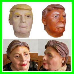 máscaras de celebridades de estados unidos Rebajas Nuevo presidente de EE. UU. Donald Trump Máscaras de látex Funny Hillary Diane Máscaras de Halloween Party Celebrity Mask Full Face para adultos