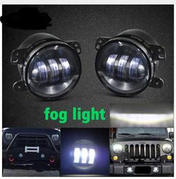 Argentina 4 pulgadas de niebla Led luz de la motocicleta daymaker 4 pulgadas redonda Led niebla de la lámpara Drl para Harley Jeep Wrangler Jk 4x4 auxiliar Suministro