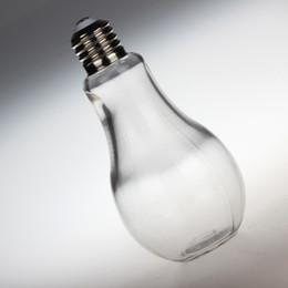 Garrafa de bulbo on-line-Criativo Bulbo Molding Garrafas De Vidro Multi Função Iogurte Suco De Frutas Milky Tea Cup Transparente 500 ML Loja Essencial Venda Quente 1 15xc J R