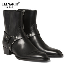 Wholesale Italy Boots Men - Wholesale- Italy black zip chelsea boots men 2016 high quality designer boots for men Genuine Leather men boots 100% cow leather size 7-12