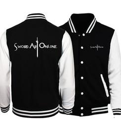 Wholesale Naruto Online - Hot Sale 2017 Spring Anime Sword Art Online S.A.O Men Jackets Fashion Coat Bomber Jacket Naruto Uzumaki Men's Sportswear Hip Hop