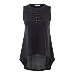 Wholesale Sleeveless Shirts For Women - Wholesale-Hot Women Sexy Casual Vest Top Sleeveless Solid O-Neck T-Shirt Plus Size For Wholesale