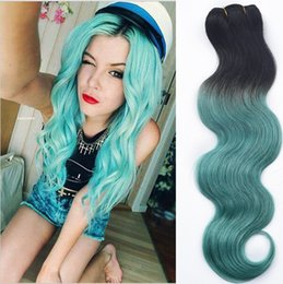 Wholesale Special Deals - Peruvian Human Hair 8A Green Ombre 3 Bundles Deals Body Wave Perucas Weave Bundles Special and Fashion Only for You