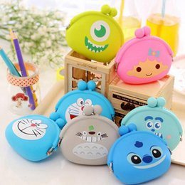 Wholesale Silicone Coin Wallet - Wholesale- New Fashion Lovely Kawaii Cartoon Totoro Animal Women Girls Wallet Multicolor Jelly Silicone Coin Bag Purse Kid Gift