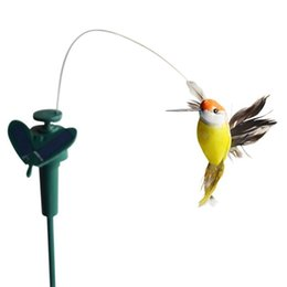 Wholesale Butterfly Garden Toy - New Solar hummingbirds, Sunflower butterflies garden toys, students enlightenment educational kids toys solar power gifts with battery