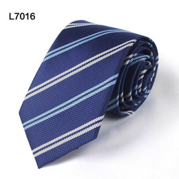Wholesale Polyester Christmas Necktie - Hight Quality 35 Patterns Fashion Design Formal Suit Ties For Men 7cm Width Business Neckties Men Plaid&Striped Tie Christmas Gift Wholesal