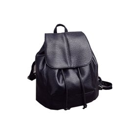 Wholesale College Korean Backpack - Wholesale- 2016 fashion summer new college wind schoolbag washed leather backpack woman Korean tidal fashion leisure travel bag backpacks