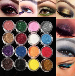 Wholesale Makeup Eyeshadow Pigment - Glitter Eyeshadow Eye Shadow Makeup Shiny Loose Glitter Powder Eyeshadow Cosmetic Make Up Pigment Specular powder 60 Mixed Colors