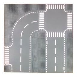 Оптово-4 типа 32x32 маленькая точка Опорная плита для городской улицы города Прямой перекресток Т-образный перекресток кривой строительный блок опорная плита 7280 от
