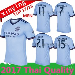 Wholesale New York city FC Home Soccer Jersey away DAVID VILLA LAMPARD PIRLO Football Shirt Thai quality