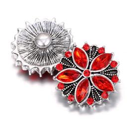 Wholesale Flower Necklace Sets - 12 pcs2017 snap button 18 mm new flower charms fashion jewelry for snap button necklace bracelet