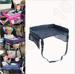 Wholesale Car Seat Travel Tray Table - Baby Toddlers Car Safety Belt Travel Play Tray Waterproof Foldable Table Baby Car Seat Cover Harness Buggy Pushchair Snack CCA5429 50pcs