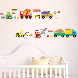 Wholesale Kids Car Wall Stickers - Wall Sticker For Kid Room Colorful Cartoon Car City Water Proof Decal Removable Mordern Art Mural Home Decor Stylish 3 6zx F R