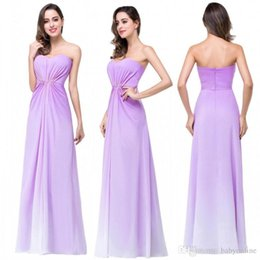 Wholesale Ombre Sweetheart Dress - 2017 Chic Ombre Chiffon Lilac Bridesmaid Dresses Sexy Backless Pleats Real Image Maid Of Honor Wedding Guest Dresses In Stock CPS256