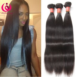 Wholesale Price Bundling - Brazilian Virgin Hair Straight Weave Bundles 3Pcs lot 8A Grade Malaysian Peruvian Indian Remy Virgin Hair Straight Hair Wholesale Price