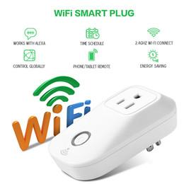 Wholesale Wholesale Electrical Sockets - Smart Wifi Power Plug EU,US,UK Plug Smart Home Electronic Socket Automation works with Household Electrical Phone Remote CE ROHS FCC