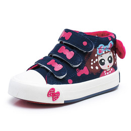 Wholesale Lovely Canvas Shoes - Girls Canvas Shoes Children Sneakers Spring Autumn Kids Sneakers Hand-decorated Bow Girls Lovely Princess Bow Sports Shoes Athletic Shoes