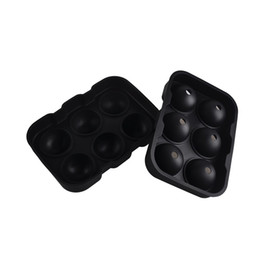 Wholesale Bar Cream - Six Hole Ice Cube Ball Mold Ice Hockey Wine Tray Spherical Silicone Mould Home Party Bar Supplies 2pcs Free china post