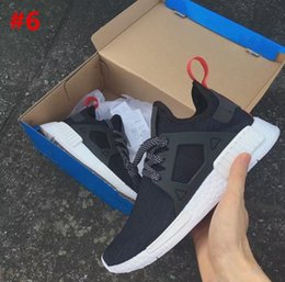 Wholesale Outdoor Zoom - 2017 Wholesale NMD XR1 Glitch Black White Blue Camo Olive Kids Children Running Shoes sports sneakers cheap online for sale Kids Shoes