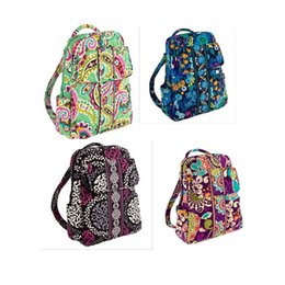 Wholesale Campus Bag Backpack - VB Small backpack campus backpack Cotton Flower School Bag Backpack School Bag Travel College 100% real