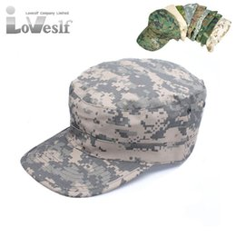 Wholesale Cap Hunting Fishing - Army baseball Snapback Camouflage Caps Outdoor Paintball Fish Camp Cap