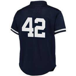 Wholesale Baseball Batting - Gary Sanchez Mariano River Bernie Williams Don Mattingly Navy 1995 Authentic Cooperstown Collection Mesh Batting Practice Jersey