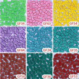 Wholesale Green Glitter Loose - 200g glitter green crystal mosaic DIY craft material Loose Crystal Glass Mosaic Tile, DIY Hobbies, DIY Mosaic Art Material Supplier