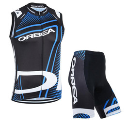 Wholesale Sleeved Bibs - New Short-sleeved Cycling Jersey Bib Shorts ORBEA Cycling Clothing Bike Shirt Ropa Ciclismo Sleeveless Cycling Clothing High Qualiy