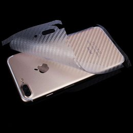 Wholesale Carbon Fiber Iphone Skin - Carbon Fiber back skins for iPhone 7 Plus 6 6S Plus 4.7 5.5 all available free shipping