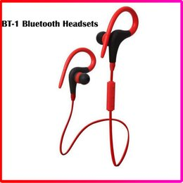 Wholesale White Tour Headphones - BT-1 Tour Bluetooth Earphone Earsets Sport Running Stereo Earbuds Wireless Neckband Headset Headphone with Mic with Retai Box